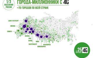 Карта покрытия Мегафон
