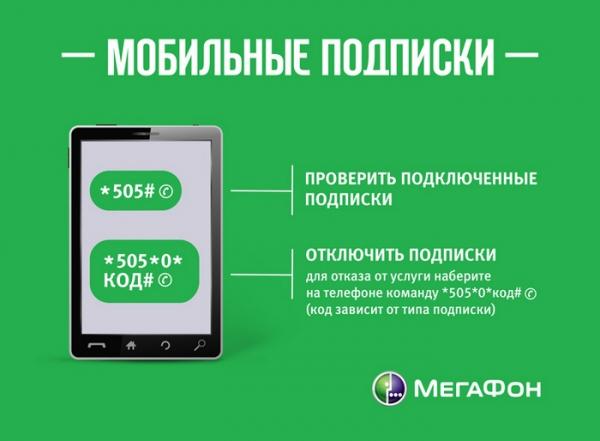 Способы отключения платных подписок на Мегафоне